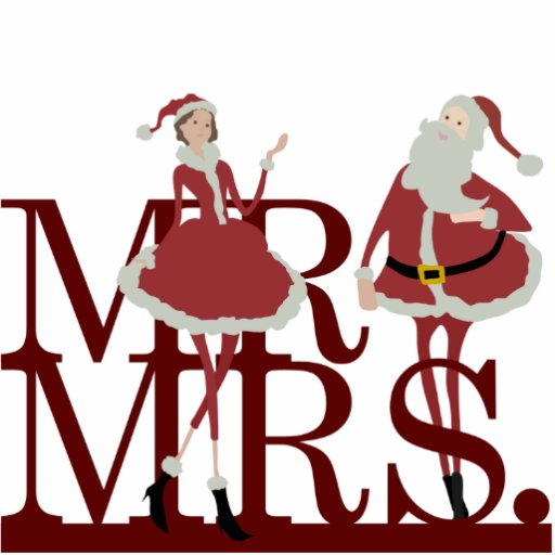 Mr And Mrs Claus Cake Topper