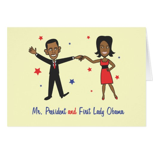 Mr. President And First Lady Obama Greeting Card