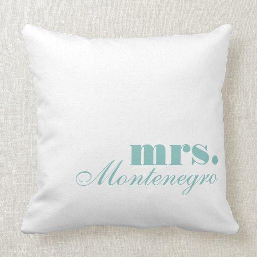 Mrs Throw Pillows Mr And Mrs Throw Pillow Set Zazzle