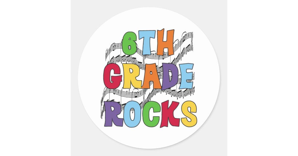 6th Grade Rocks Chalkboard Applique |Sixth Grade Rocks