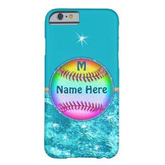 Multicolored PERSONALIZED Softball iPhone 6 Case