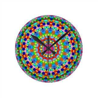 Stained Glass Wall Clocks Zazzle