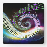 Gifts For Musicians Music Themed Wall Clocks