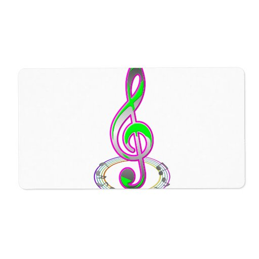 Music Note Label