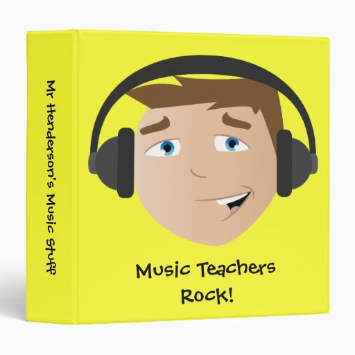 Music Teachers Rock! Vinyl Binder