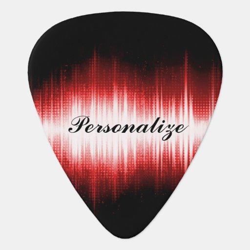musical sound wave design guitar pick zazzle. Black Bedroom Furniture Sets. Home Design Ideas