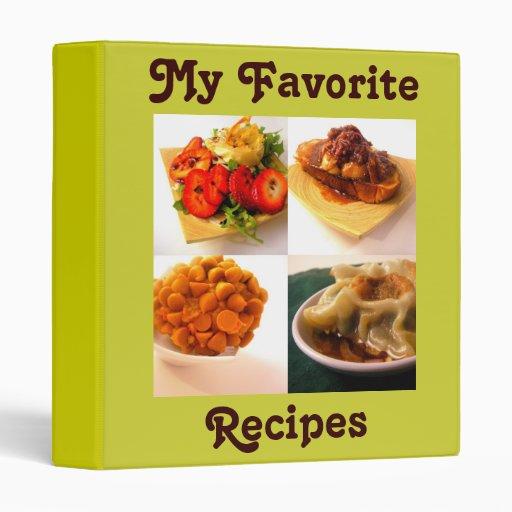 My Favorite Recipes - Designer Cookbook Binder