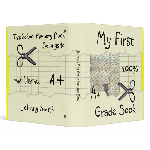 My First Grade Book School Memory Binder