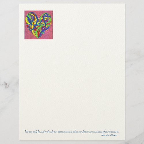 My Heart's Treasure letterhead