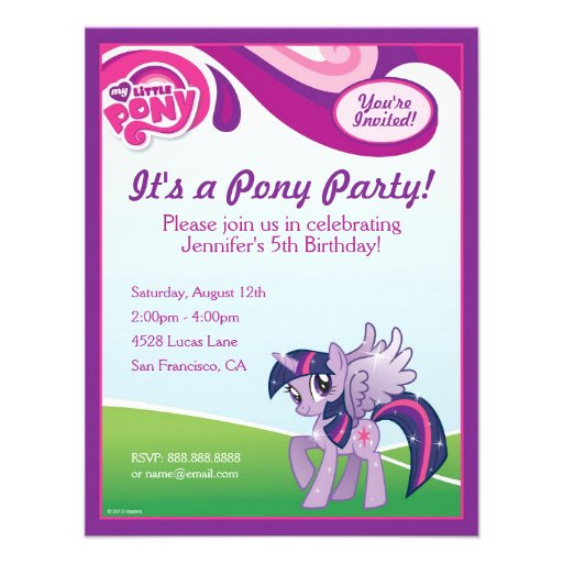My Little Pony Birthday Invitation Templates