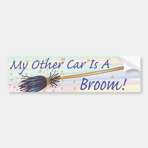 My Other Car Is A Broom 7 Bumber Sticker Car Bumper
