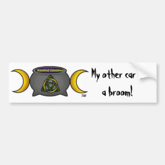 My Other Is A Broom Bumper Stickers Car Stickers Zazzle