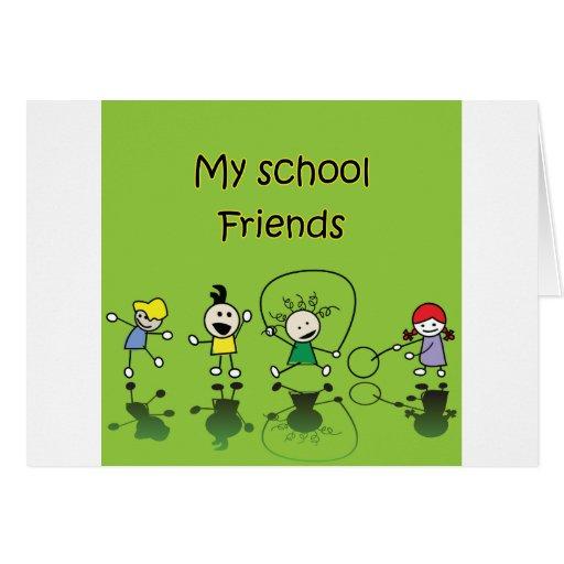 My School Friends Card | Zazzle  Quotes On School Friends