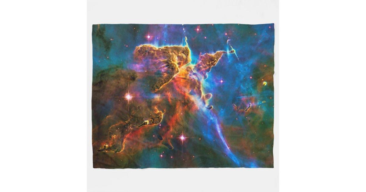 Mystic Mountain, Carina Nebula outer space picture Fleece ...
