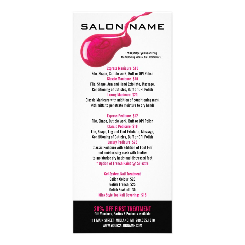 28 Nail Price List Template