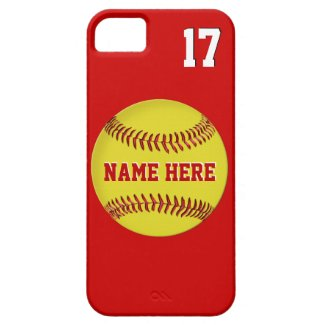 Name, Jersey Number Softball iPhone 5S Cases, 5 iPhone 5 Covers