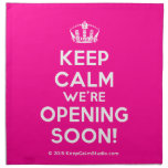 Keep Calm Were Opening Soon Design On T Shirt Poster Mug And