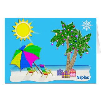 Naples Florida Christmas Cards. Personalize it.