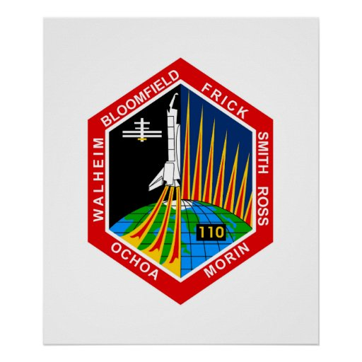 NASA STS-110 Shuttle Mission Patch Print | Zazzle