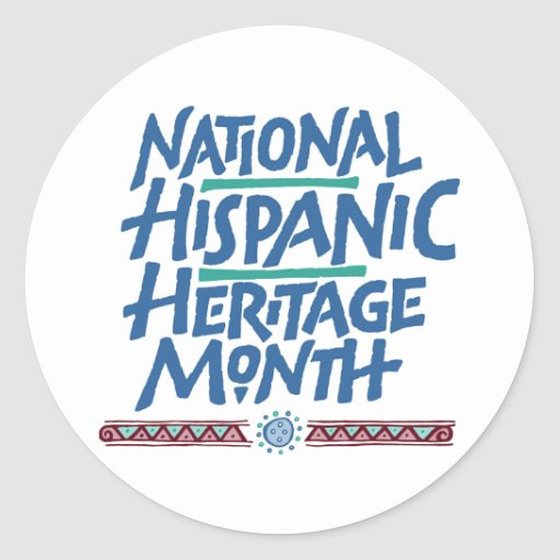 National hispanic heritage month sticker zazzle for National hispanic heritage month coloring pages