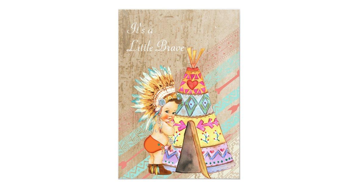 Native American Wedding Invitations: Native American Baby Shower Invitation
