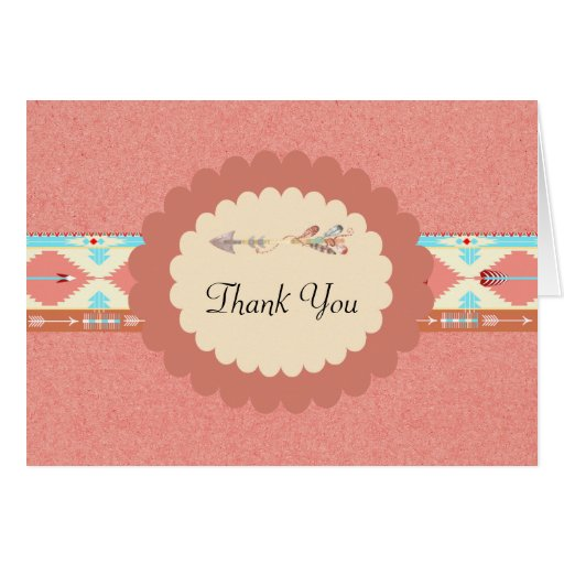 Native American Wedding Gifts: Native American Wedding Thank You Card