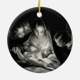 Christmas Nativity Black And White Holiday Decorations ...