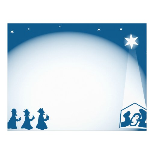 Nativity Border Letterhead Zazzle