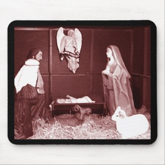 Nativity Scene themed products mousepad