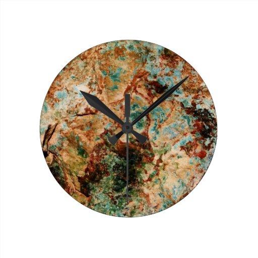 Natural Stone Wall Clock Zazzle