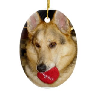 Naughty Dog Ornament
