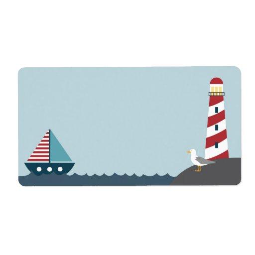 Nautical Blank Label