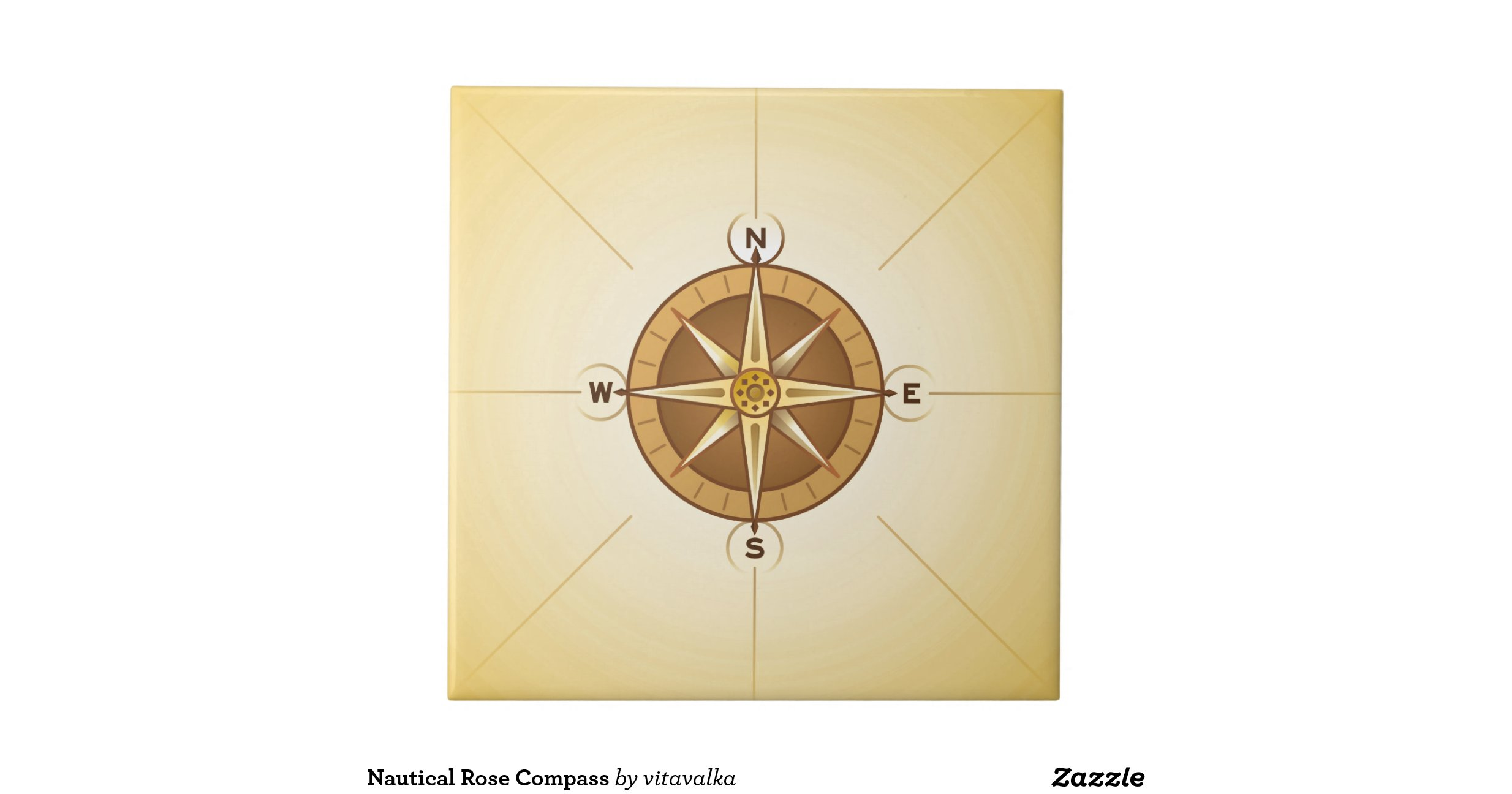 nautical rose compass ceramic tiles zazzle. Black Bedroom Furniture Sets. Home Design Ideas