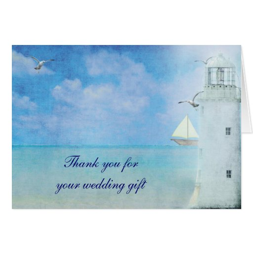 Wedding Gift Thank You Cards: Nautical Thank You For Wedding Gift Card