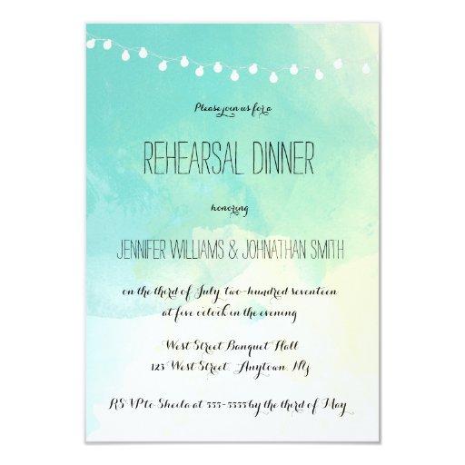 Nautical Watercolor Rehearsal Dinner Invitations Zazzle