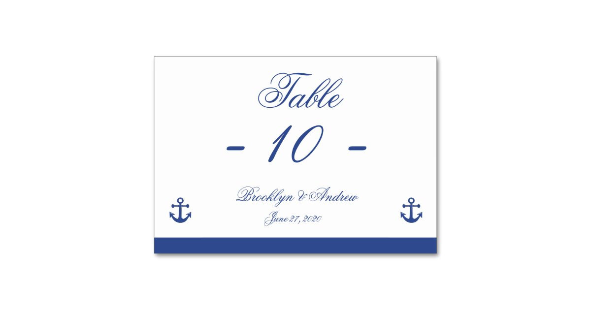 nautical wedding place cards zazzle. Black Bedroom Furniture Sets. Home Design Ideas