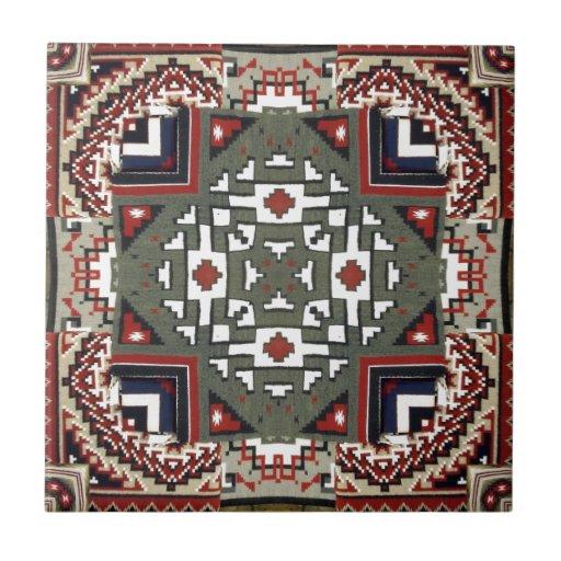 Navajo Blanket Native American Inspired Pattern Tile Zazzle