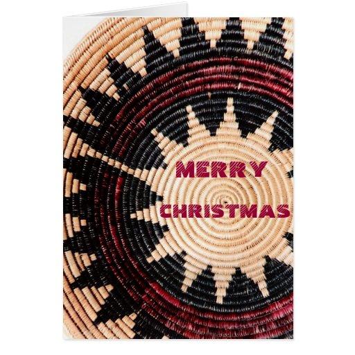 Native American Wedding Gifts: Navajo Wedding Basket Greeting Greeting Card