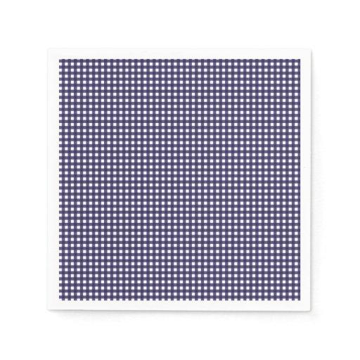 Blue checkered paper napkins