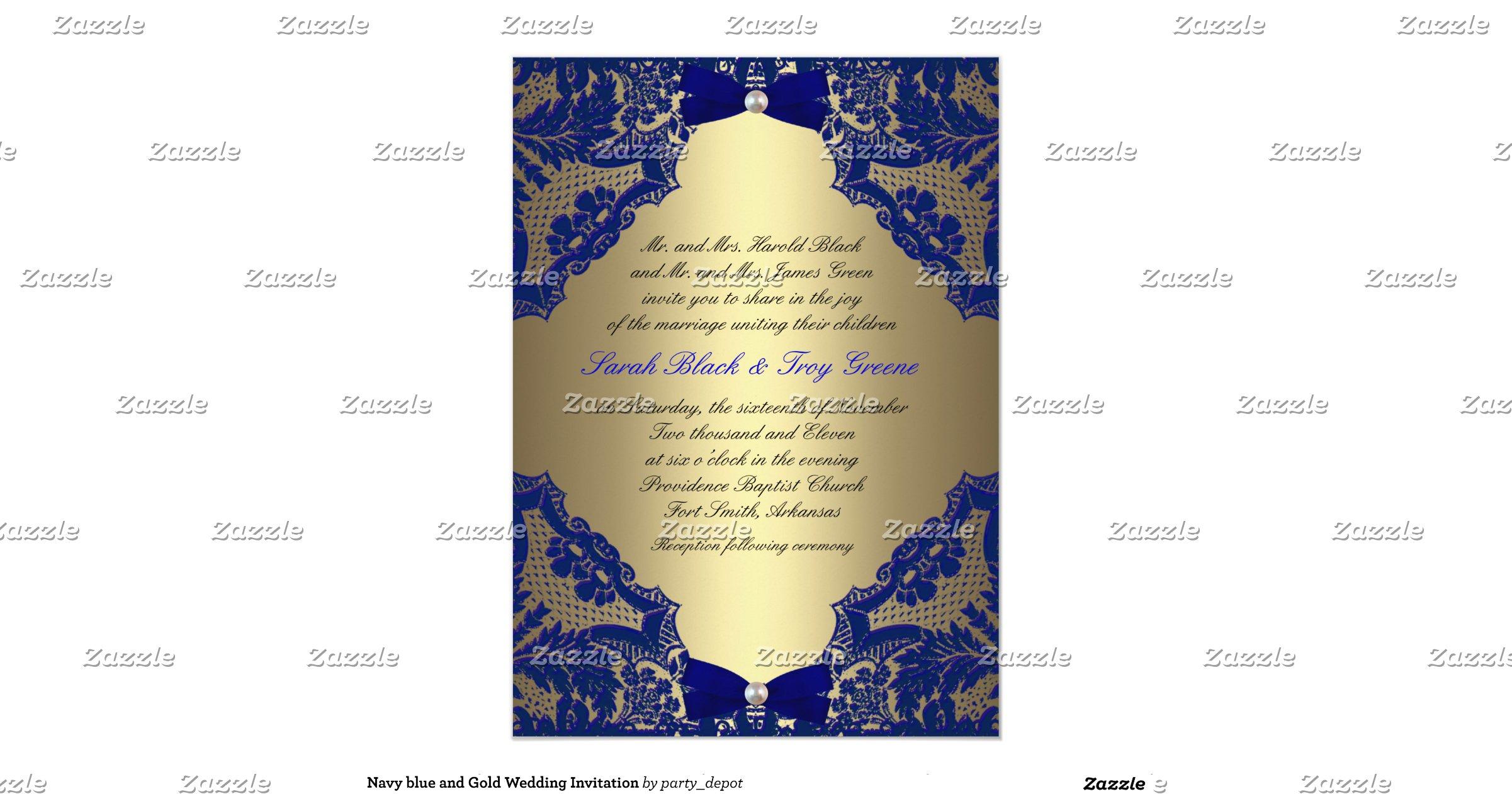 Navy Blue And Gold Wedding Invitations: Navy_blue_and_gold_wedding_invitation