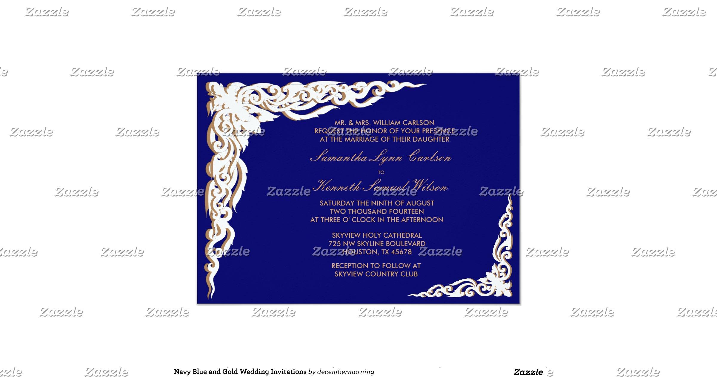 Navy Blue And Gold Wedding Invitations: Navy_blue_and_gold_wedding_invitations