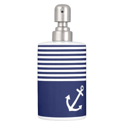 Navy Blue Soap Dispenser