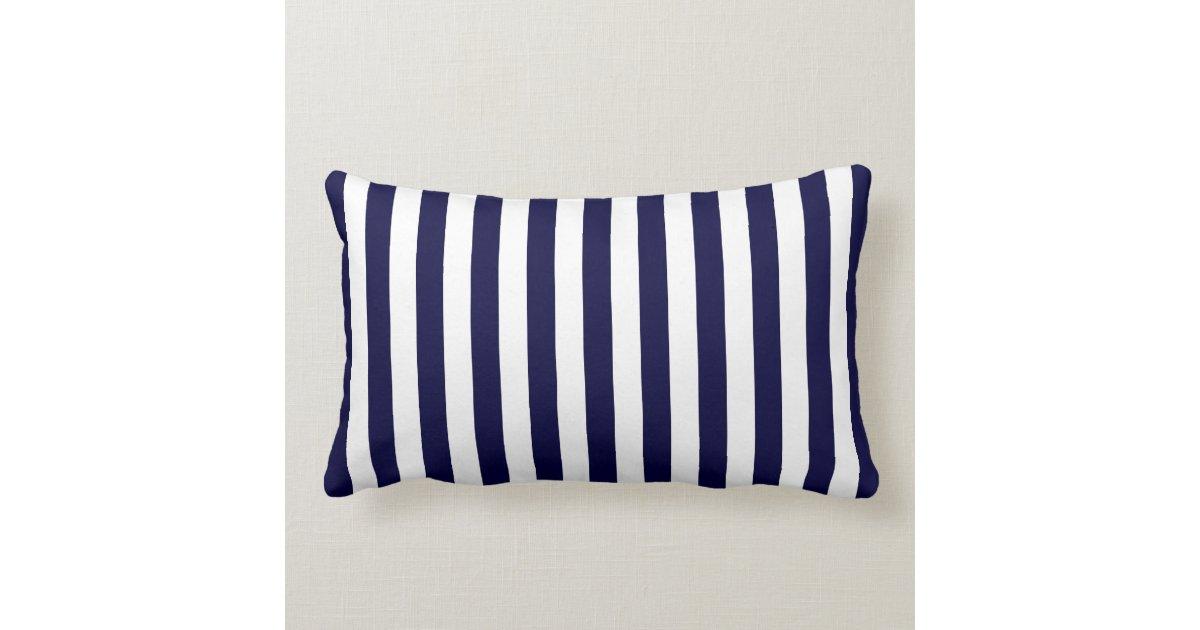 Navy And Pink Decorative Pillows: Navy Blue White Stripe Pink Name Monogram Throw Pillow