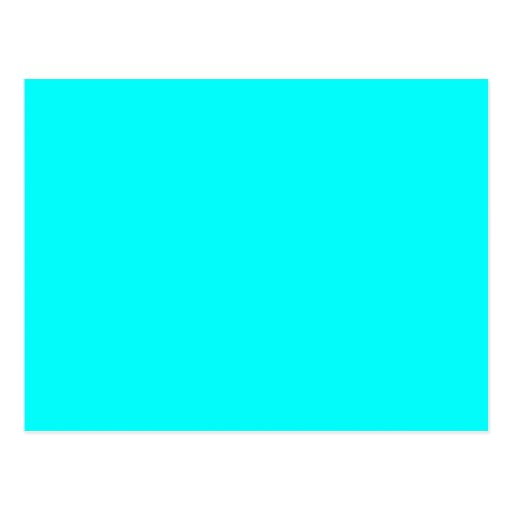 Neon Blue Teal Light Bright Fashion Color Trend Postcard ...