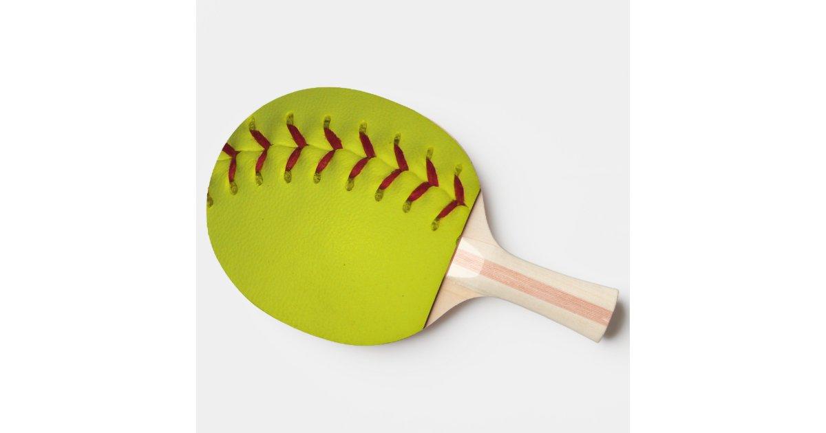 Neon Yellow Softball Ping Pong Paddle Zazzle