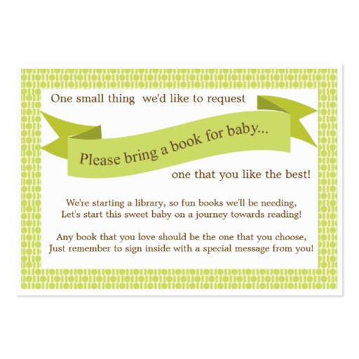 Bring A Book Instead Of A Card Wording