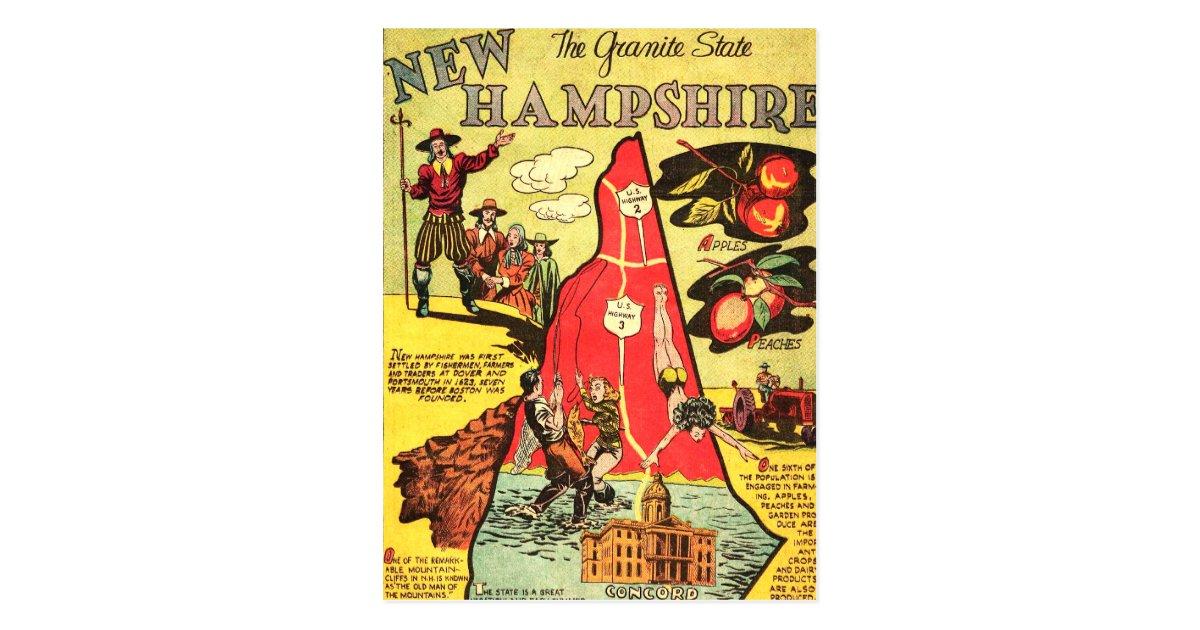 New Hampshire The Granite State Postcard Zazzle