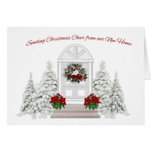 New Home Address Change Christmas Greeting Card