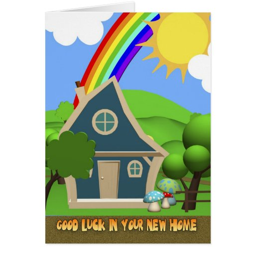 7 Apps To Use While Designing And Building Your New Home: New Home Cartoon House Greeting Card