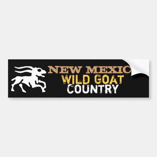 New Mexico: Wild Goat Country Car Bumper Sticker